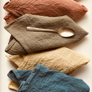 Organic Cotton Napkins - Sand