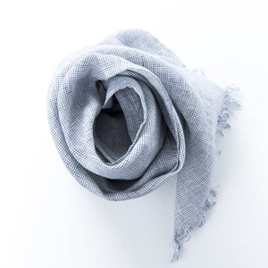 Roserie Scarf White Plaid