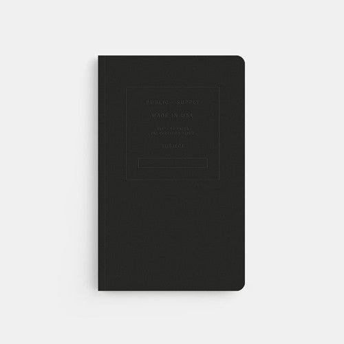 Embossed Softcover Dot Notebook in Black