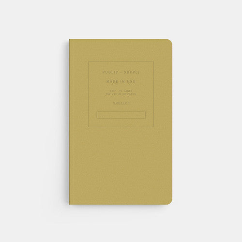 Embossed Softcover Dot Notebook in Fuse Mustard Yellow