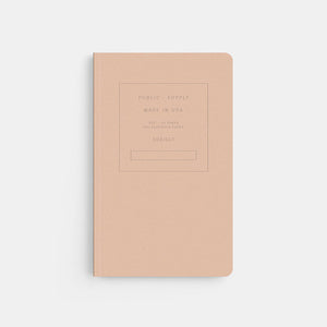 Embossed Softcover Dot Notebook in Memo Peach