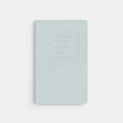 Embossed Softcover Dot Notebook in Snowcone Sky Blue