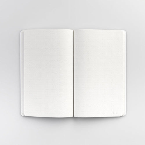 Embossed Softcover Dot Notebook in Olive Green