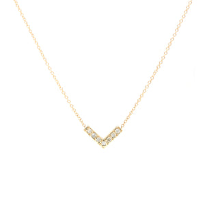 14K Diamond V Necklace - KESTREL