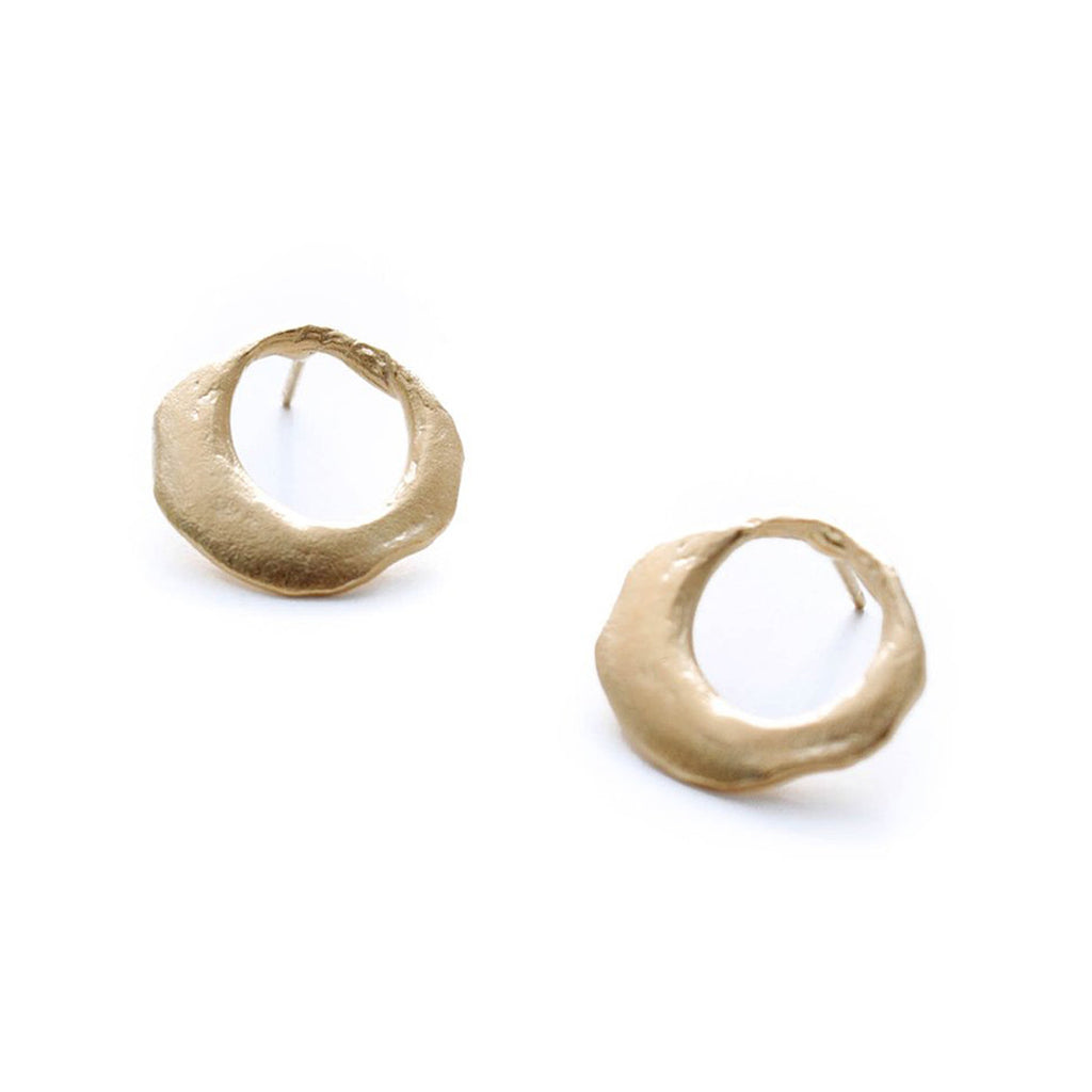 A. Kaplan Small Formed Gold Hoops