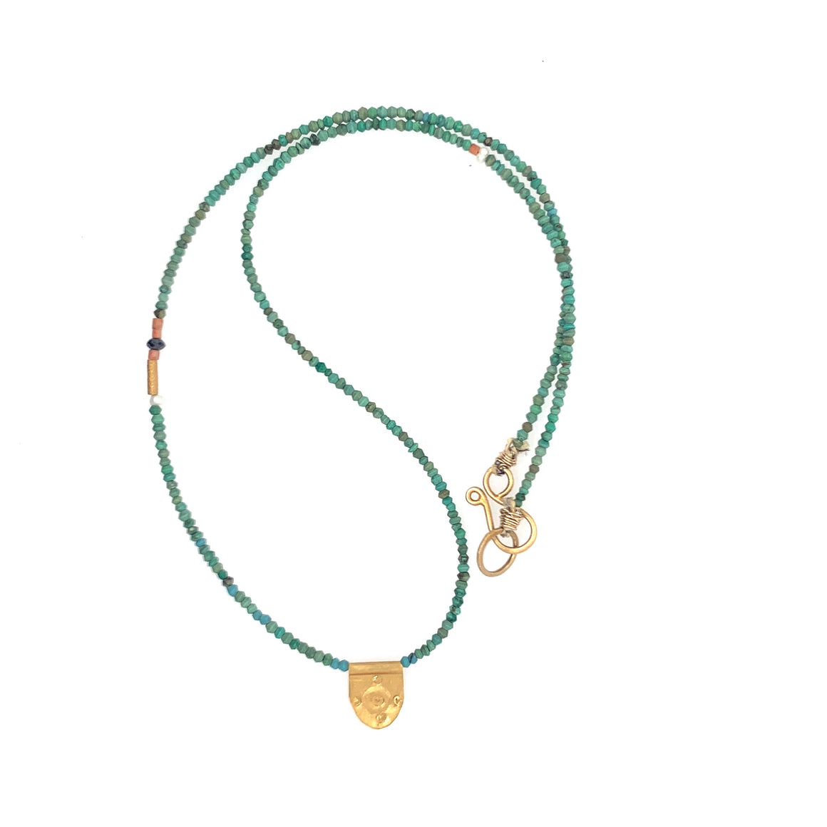Turquoise with Halfmoon Talisman Necklace