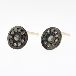 Oxidized Diamond Disk Studs - KESTREL