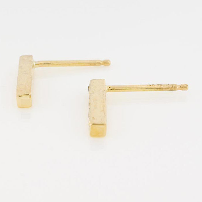 14K Ombre Diamond Bar Studs