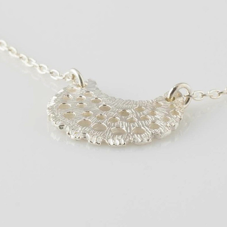 Sterling Sea Fan Necklace