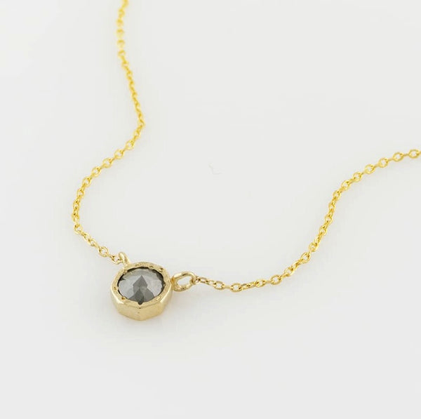 14K Grey Rosecut Diamond Necklace