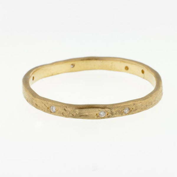 14k Diamond Sprinkle Band