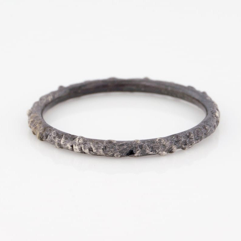 Oxidized Rocky Stacking Ring