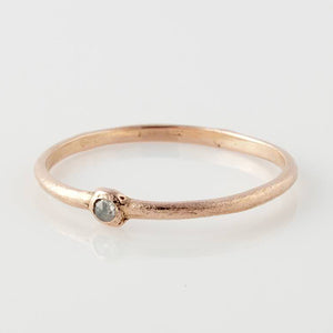 14k Rose Grey Diamond Ring - KESTREL