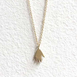 14K Tiny Hand Necklace - KESTREL