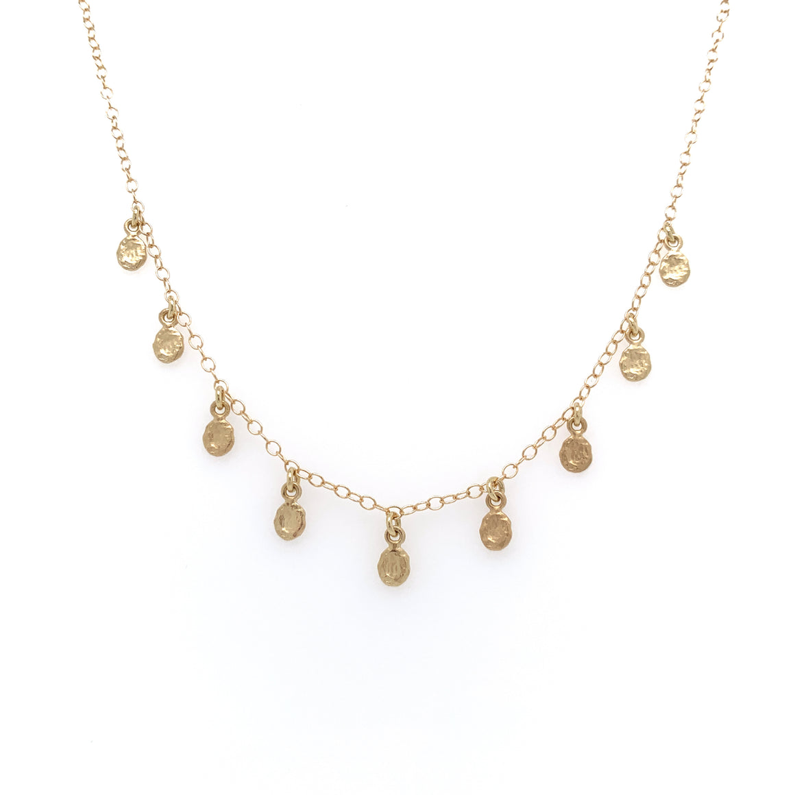 14k 9 Golden Flakes Necklace