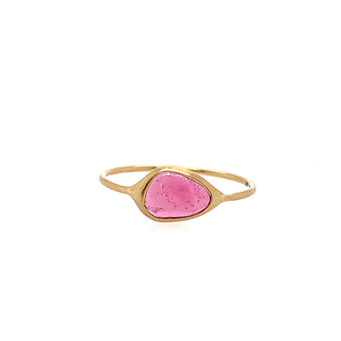 18k Pink Tourmaline Stack Ring