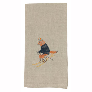Downhill Fox Tea Towel