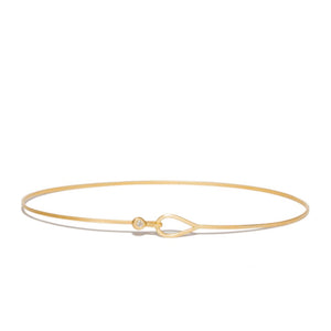 14K Teardrop Diamond Bangle - KESTREL