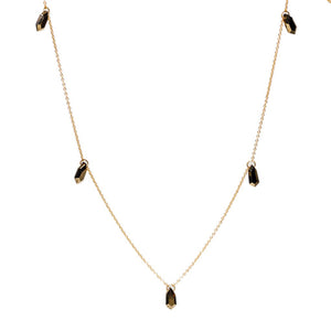 14k Pyrite 5-Shield Necklace - KESTREL