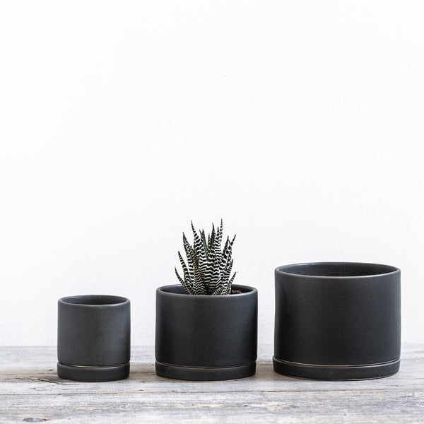 Charcoal Round Planter