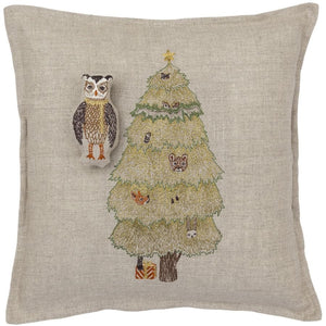 Christmas Tree Owl Pocket Pillow - KESTREL