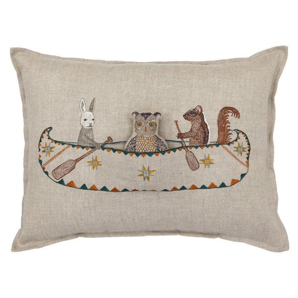 Canoe Friends Pocket Pillow