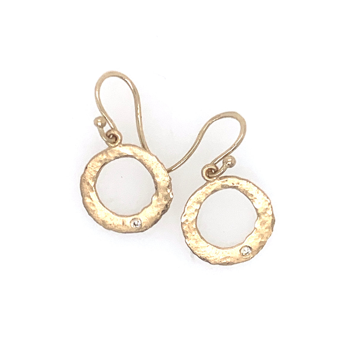 14k Dangling Circle Earrings