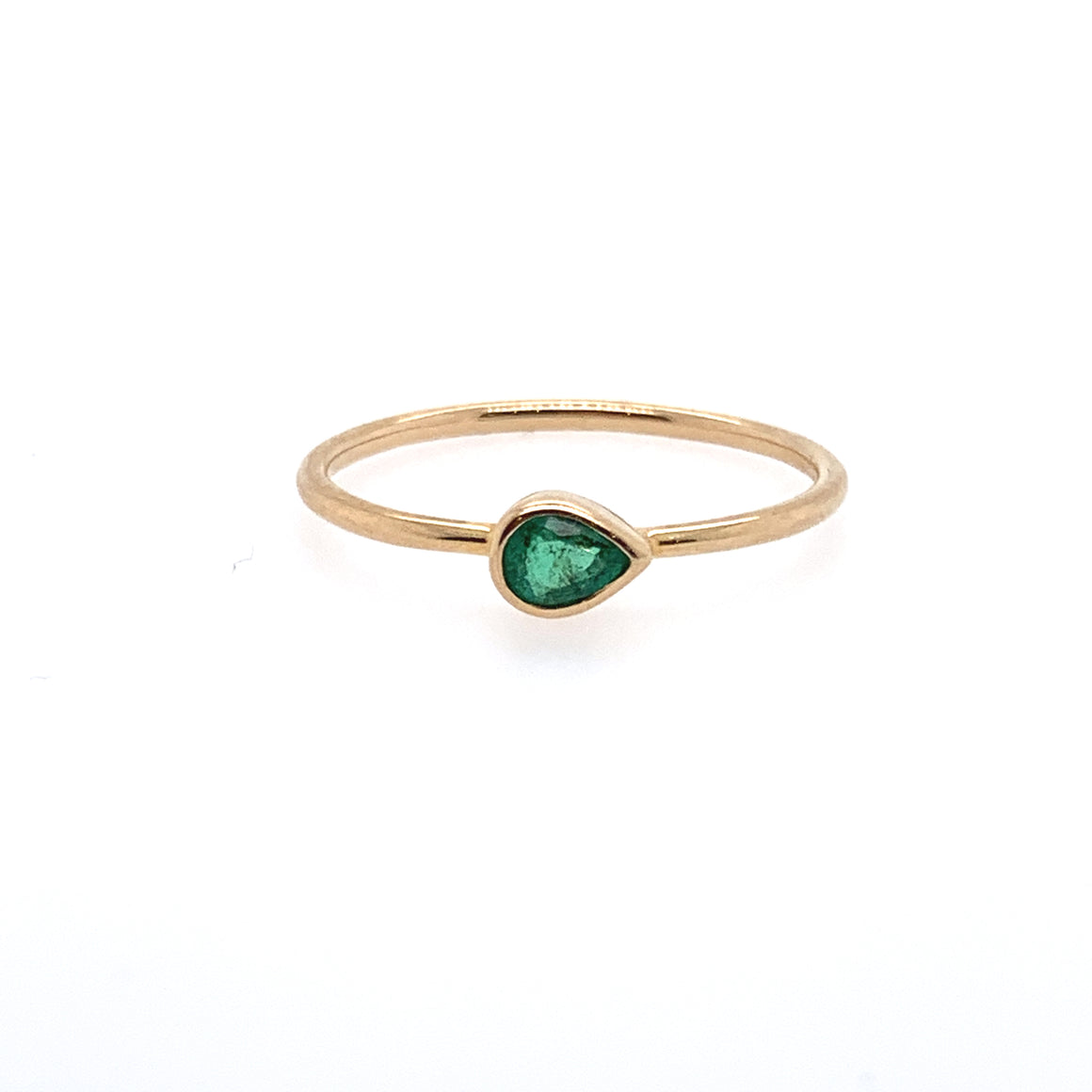 18k Emerald Stack Ring