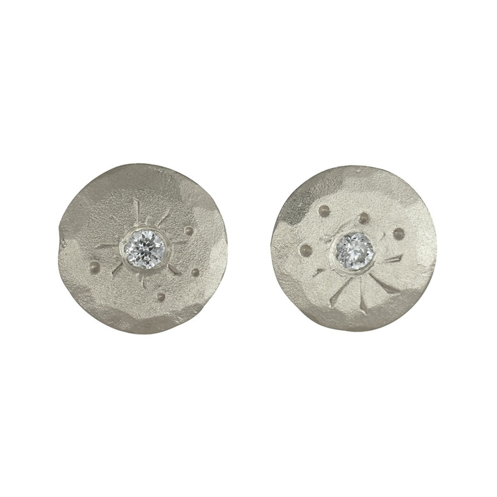 Silver Mini Treasure Coin Studs