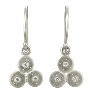 Silver Triple Treasure Coin Earrings - KESTREL