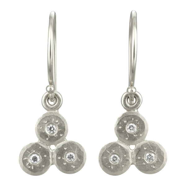 Silver Triple Treasure Coin Earrings
