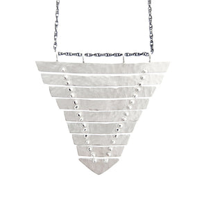 Fishbone Shield Necklace