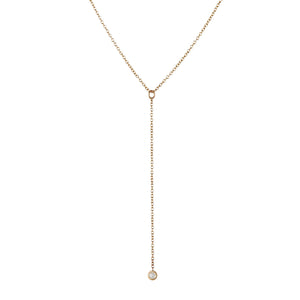 14K Diamond Lariat Necklace - KESTREL