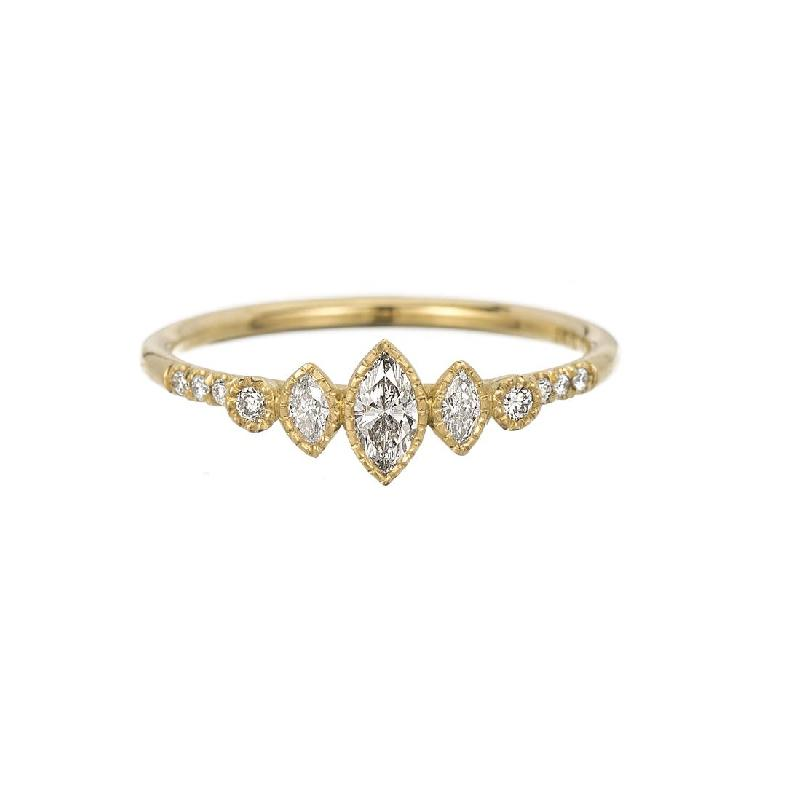 Diamond Multi Marquise Equilibrium Ring
