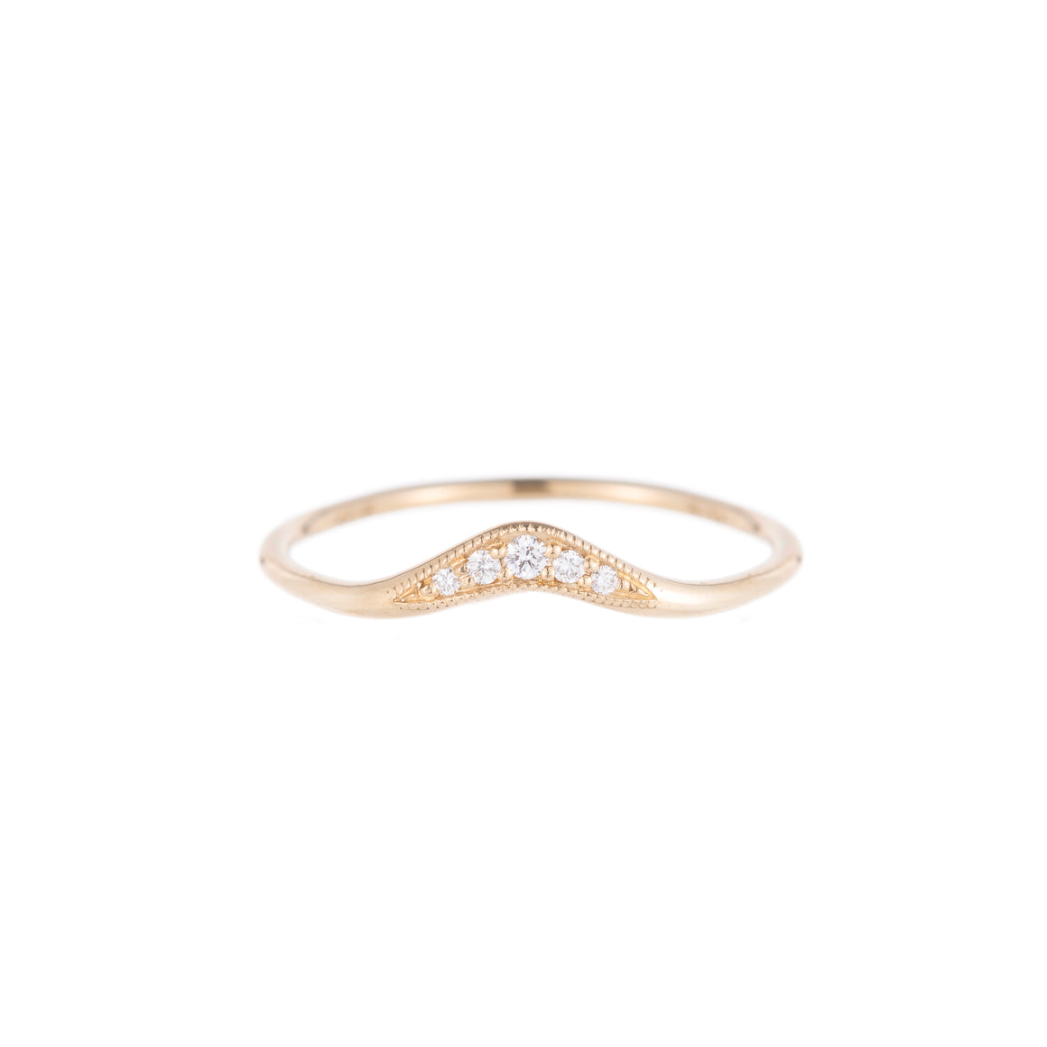 14K Diamond Wave Band - KESTREL