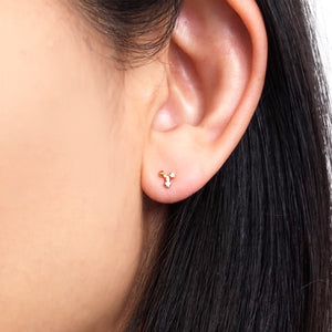 14K Triad Cluster Studs w/ Diamonds - KESTREL