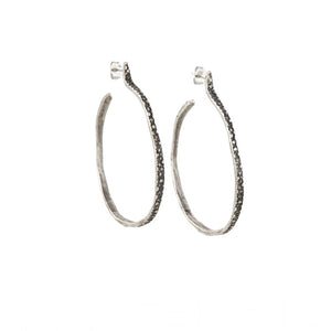 Sterling Stingray Hoops