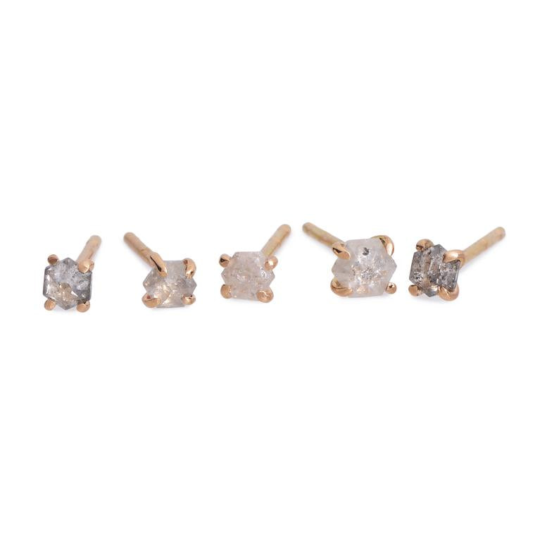 Diamond Hex Studs