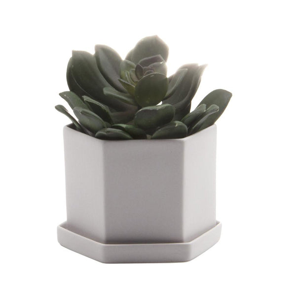 Hex Planter (Light Grey) - KESTREL
