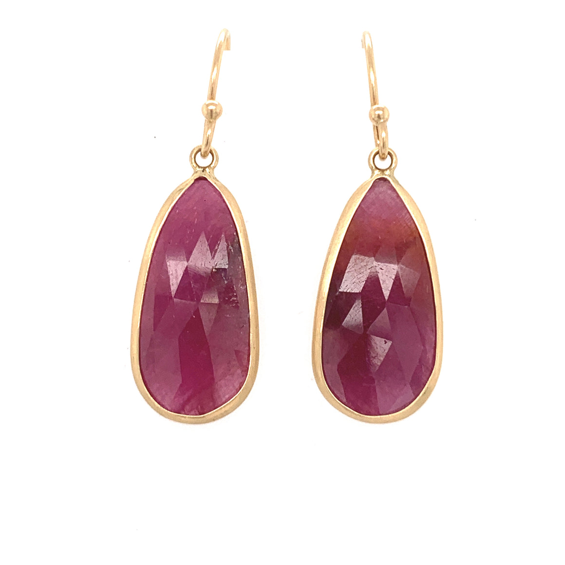 Pink Sapphire Teardrop Earrings