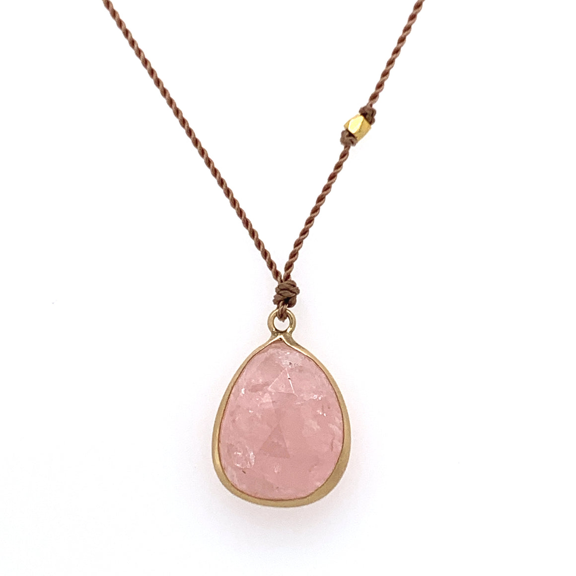 Morganite Bezel Necklace