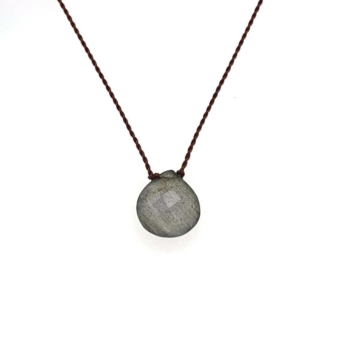 Faceted Droplet Necklace - Labradorite