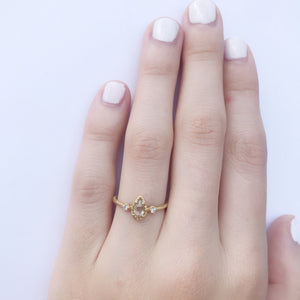 Teardrop Champagne Diamond Ring
