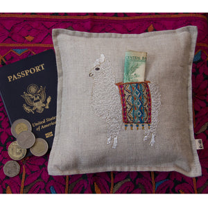 Alpaca Travel Treasure Pillow - KESTREL
