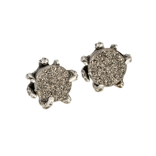 Claw Studs with Druzy Agate - KESTREL