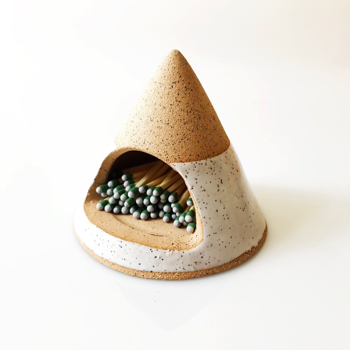 Ceramic Match Hut - Triangle