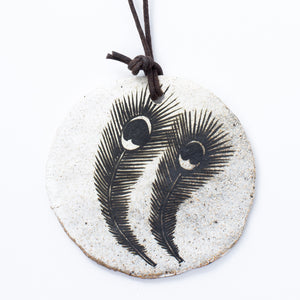 Feather Disk Ornament