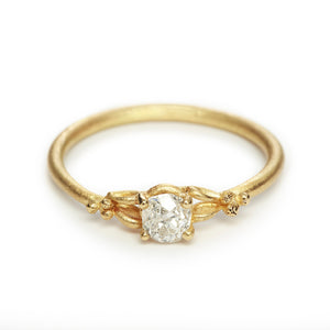 Solitaire Diamond Ring w/ Filigree Detail