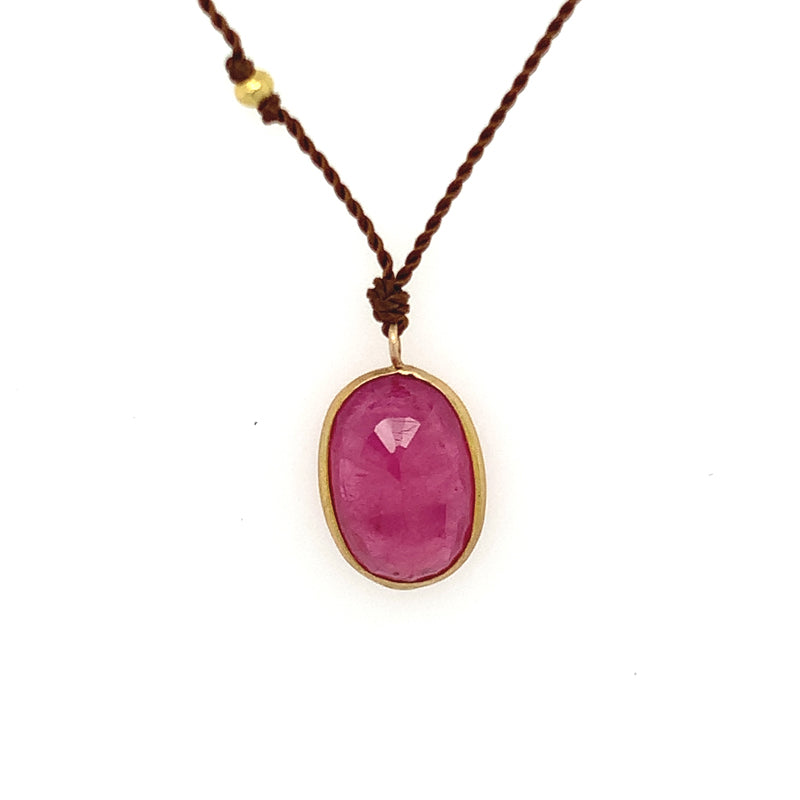 14K Ruby Necklace