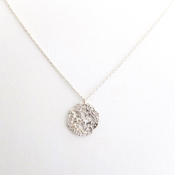 Sterling Sea Foam Necklace with Diamond